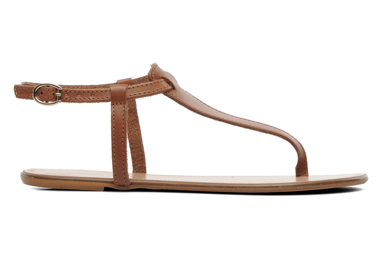 Sandalen Georgia Rose Lufluo cuir braun ansicht von hinten