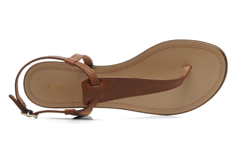 Sandalen Georgia Rose Lufluo cuir braun ansicht von links