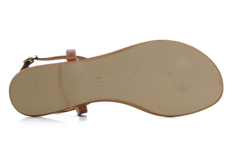 Sandalen Georgia Rose Lufluo cuir braun ansicht von oben