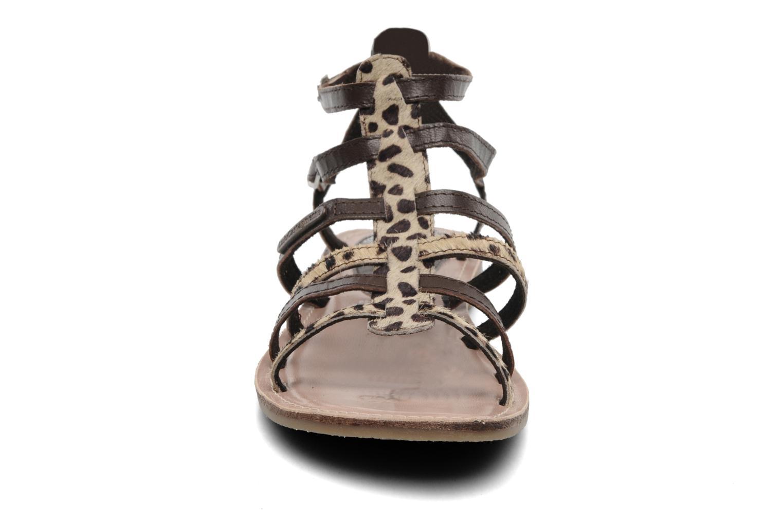 Sandales et nu-pieds Lulu Castagnette LC Galila Marron vue portées chaussures