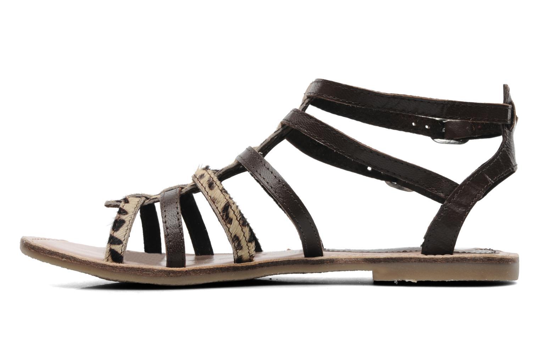 Sandales et nu-pieds Lulu Castagnette LC Galila Marron vue face