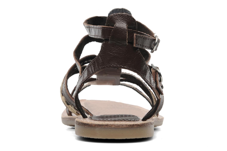 Sandales et nu-pieds Lulu Castagnette LC Galila Marron vue droite