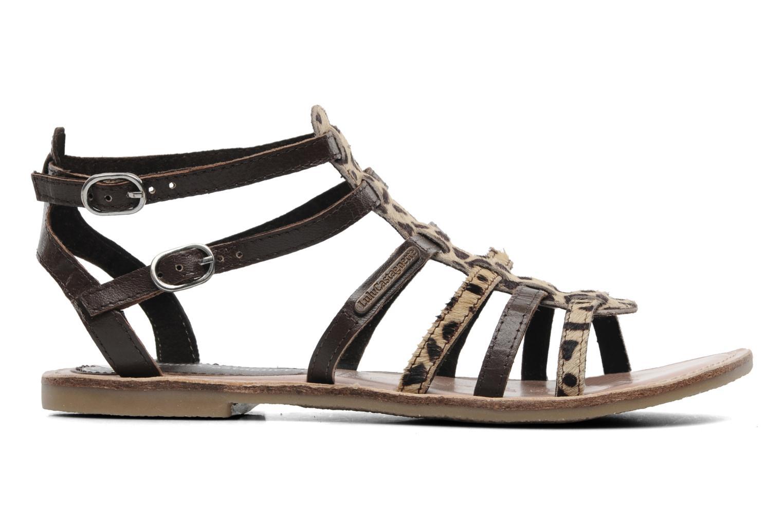 Sandales et nu-pieds Lulu Castagnette LC Galila Marron vue derrière