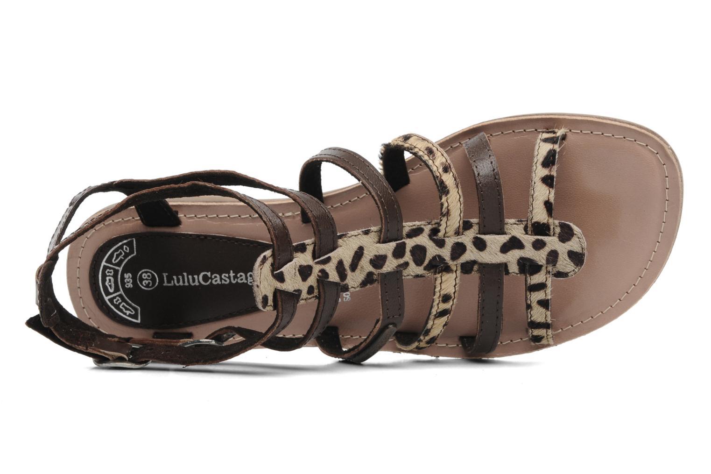 Sandales et nu-pieds Lulu Castagnette LC Galila Marron vue gauche