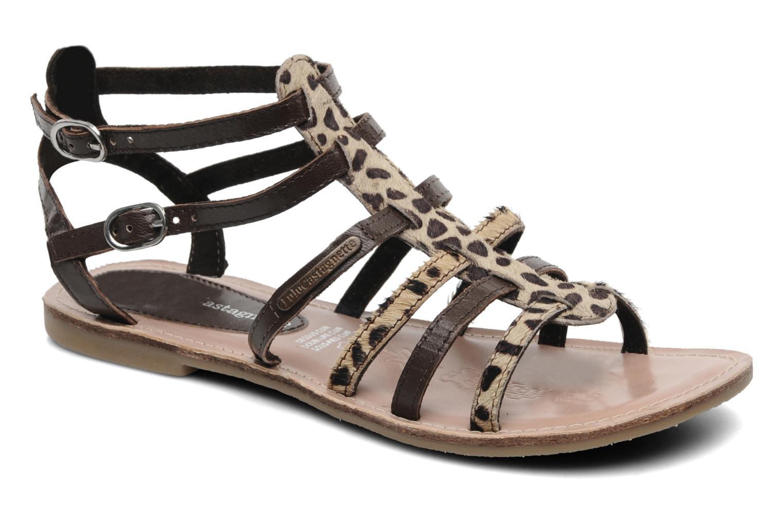 Sandales et nu-pieds Lulu Castagnette LC Galila Marron vue détail/paire