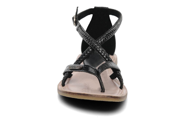 Sandalen Lulu Castagnette LC Grimaldi schwarz schuhe getragen