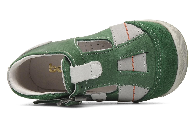 Sandalias Babybotte PANPI Verde vista lateral izquierda