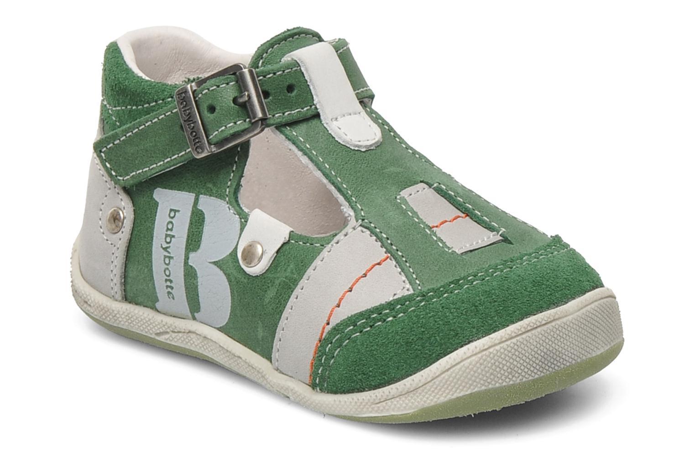 Sandaler Babybotte PANPI Grøn detaljeret billede af skoene