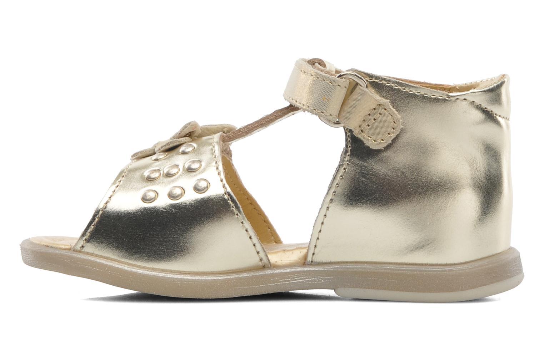 Sandales et nu-pieds Babybotte TAHIS Or et bronze vue face