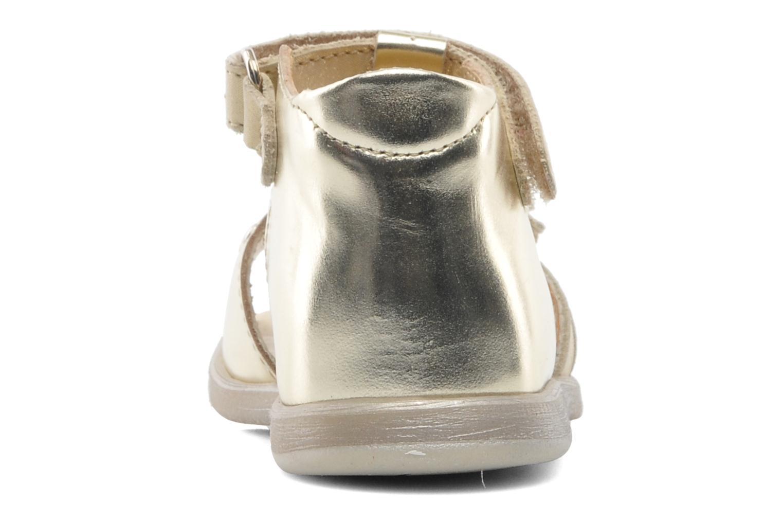 Sandales et nu-pieds Babybotte TAHIS Or et bronze vue droite