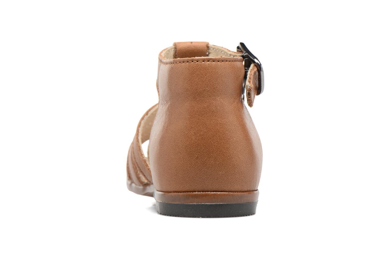 Sandales et nu-pieds Little Mary Jules Marron vue droite