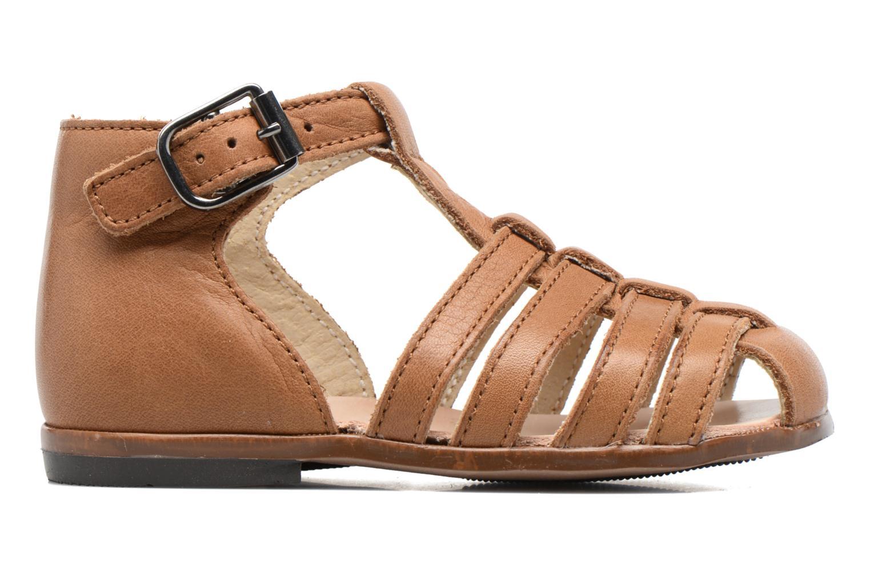 Sandales et nu-pieds Little Mary Jules Marron vue derrière