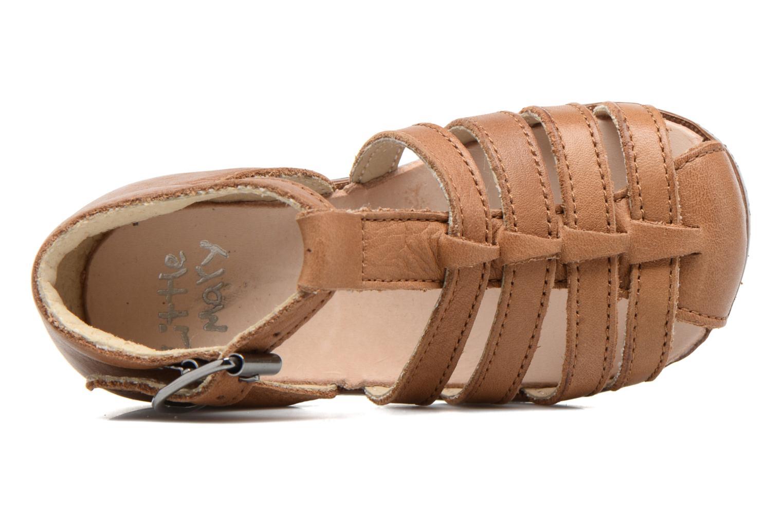 Sandales et nu-pieds Little Mary Jules Marron vue gauche
