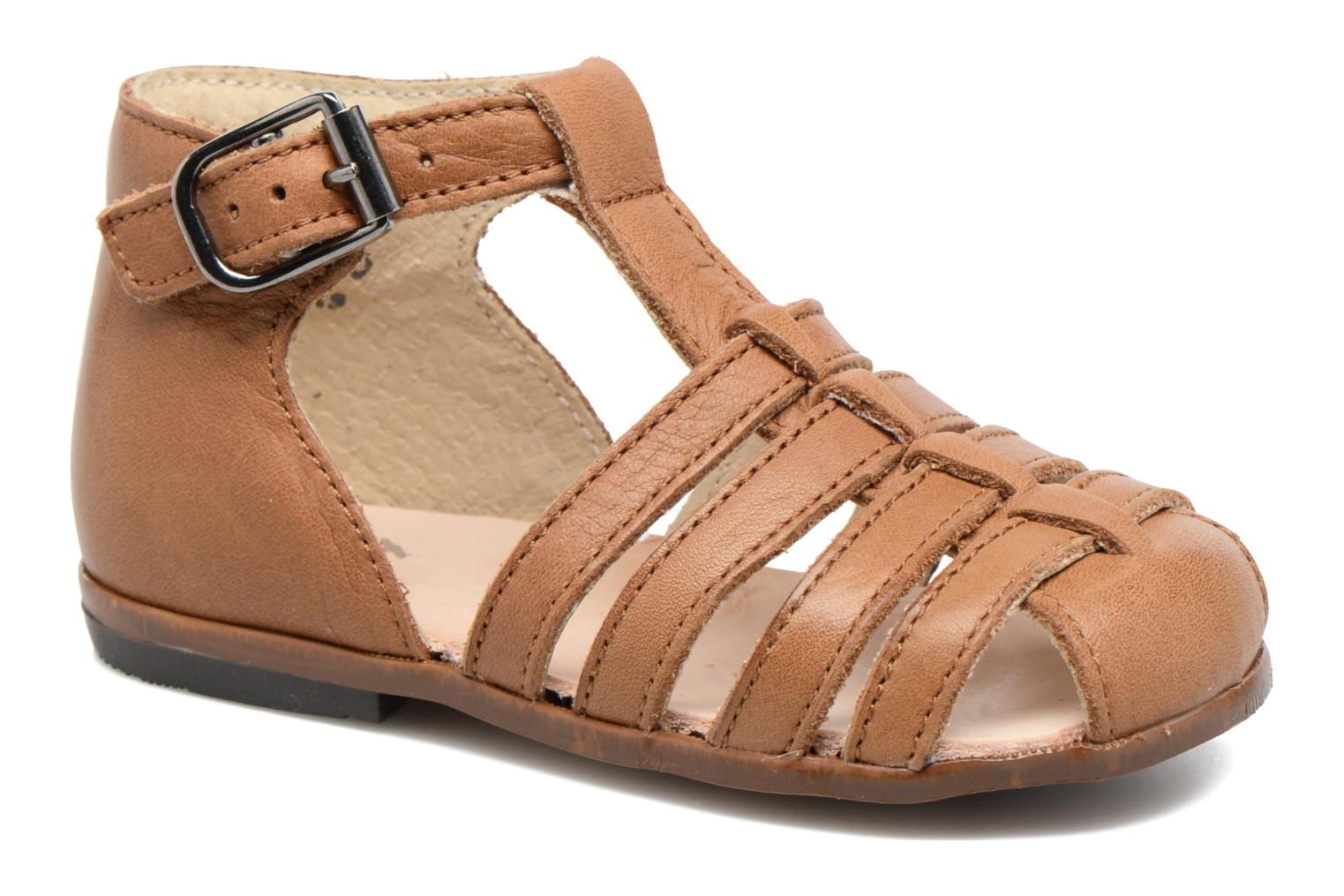 Sandals Little Mary Jules Brown detailed view/ Pair view