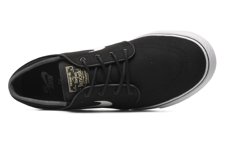 Nike SB Zoom Stefan Janoski Cnvs Black/White-Gm Lght Brwn-Mtlc Gl