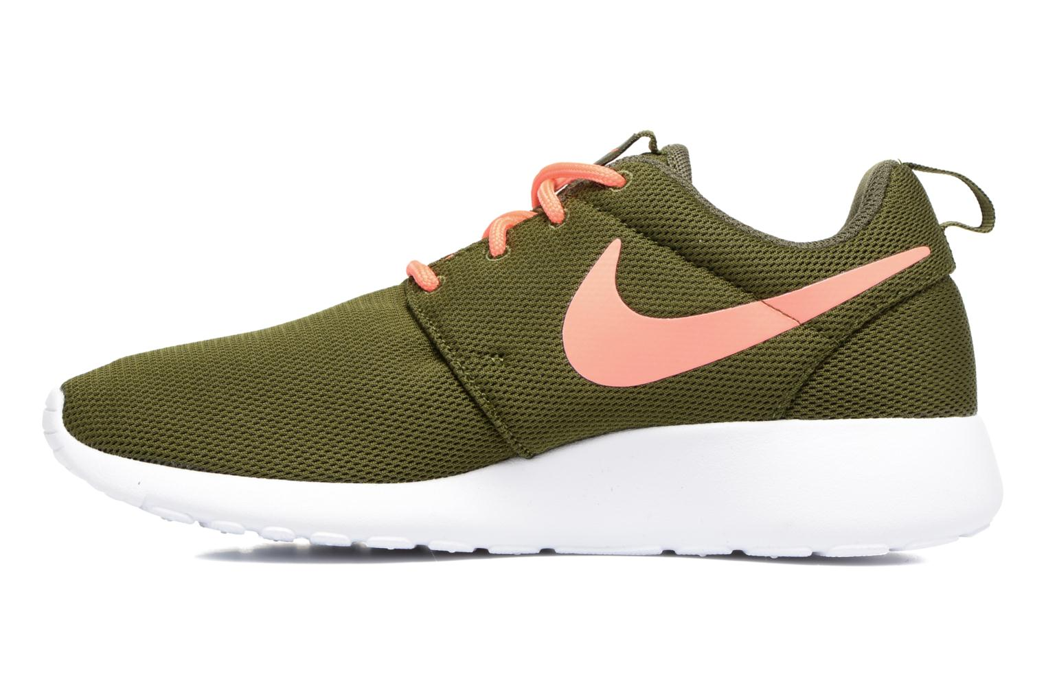 Wmns Nike Roshe One Legion Green/Lava Glow-White