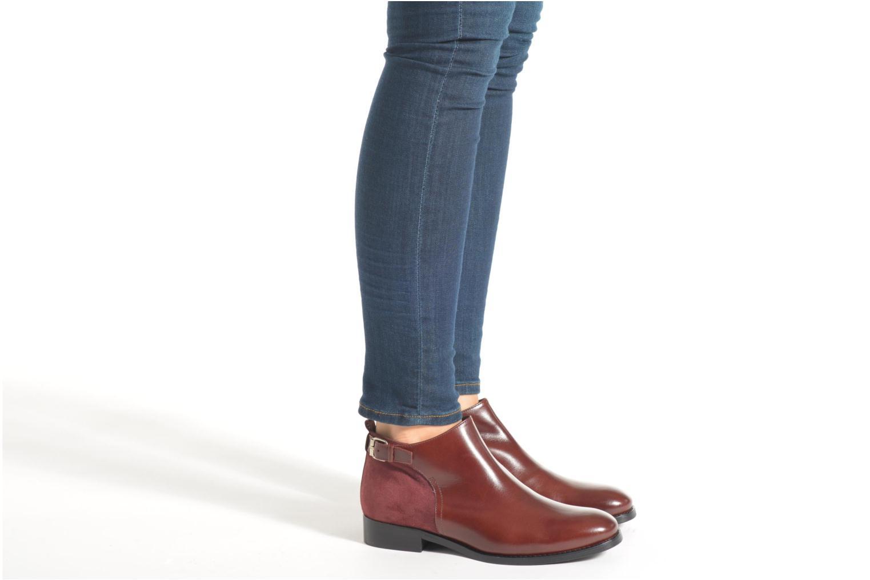 Bottines et boots Georgia Rose Tatouille Bordeaux vue bas / vue portée sac