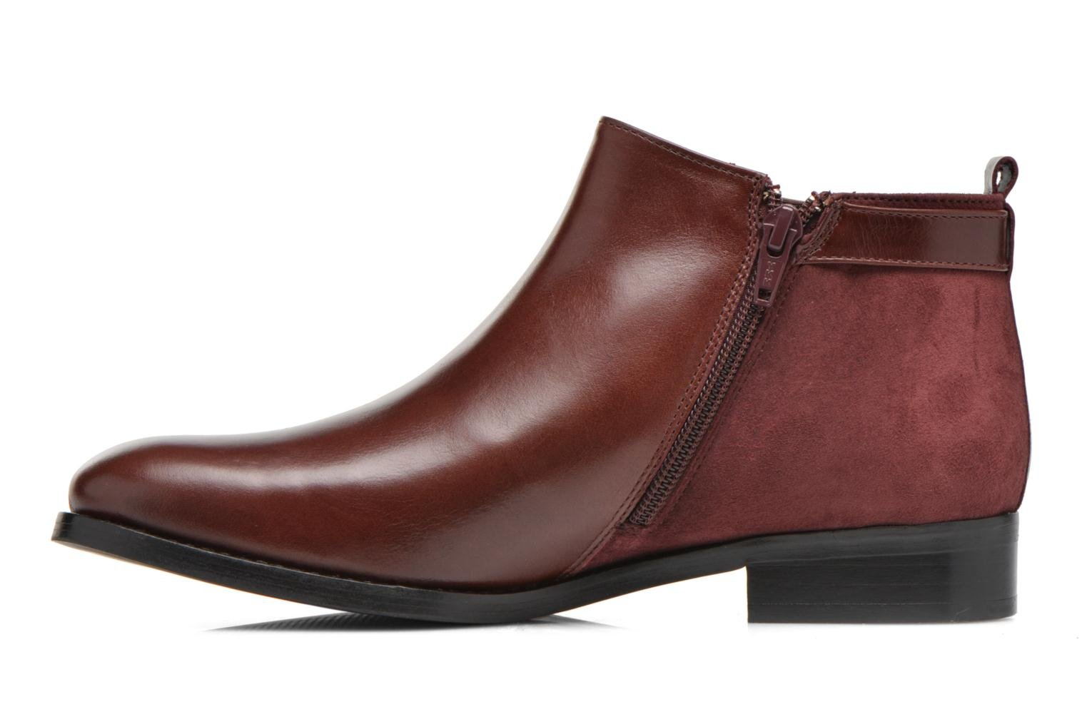 Ankle boots Georgia Rose Tatouille Burgundy front view