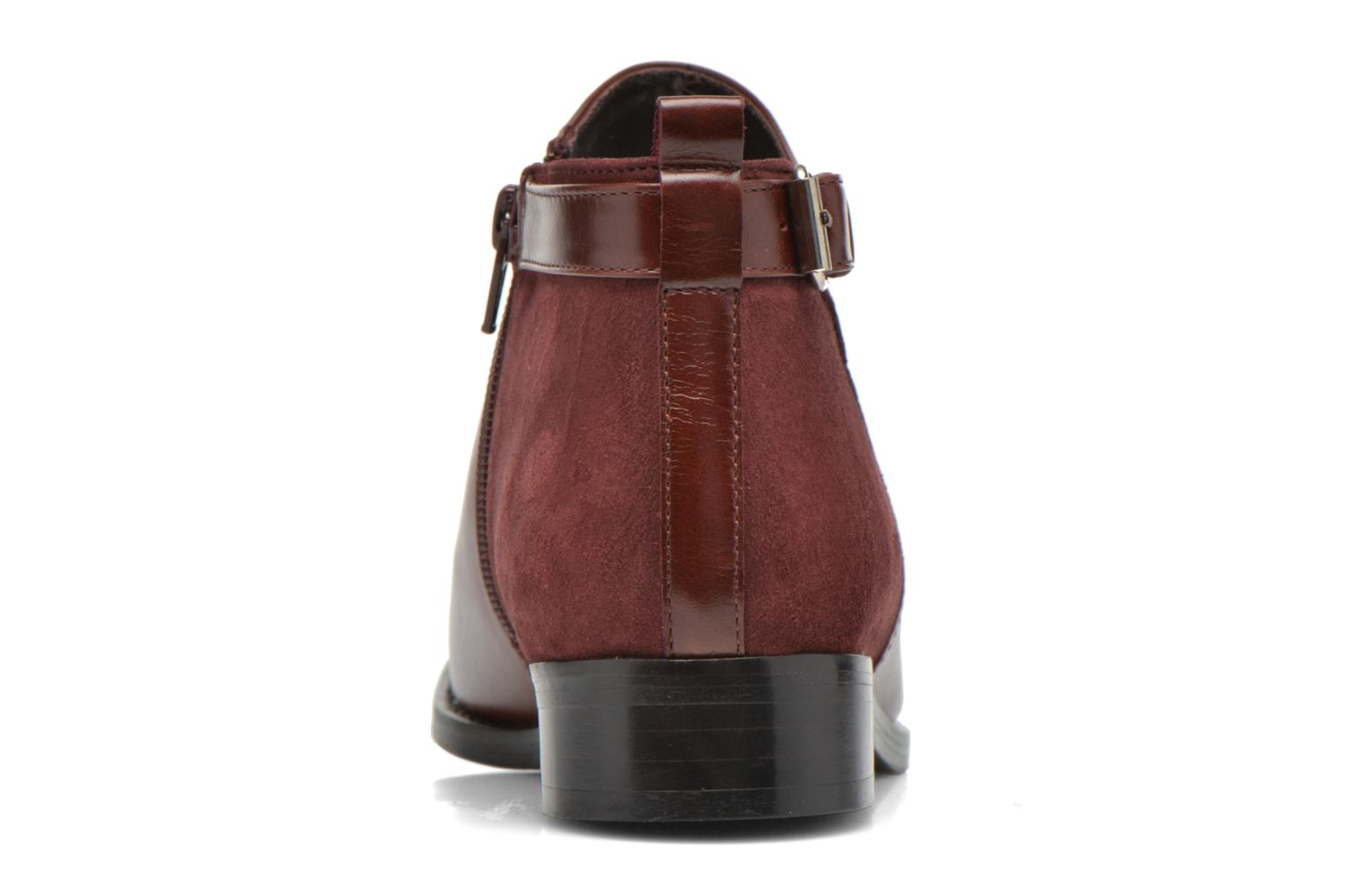 Ankle boots Georgia Rose Tatouille Burgundy view from the right