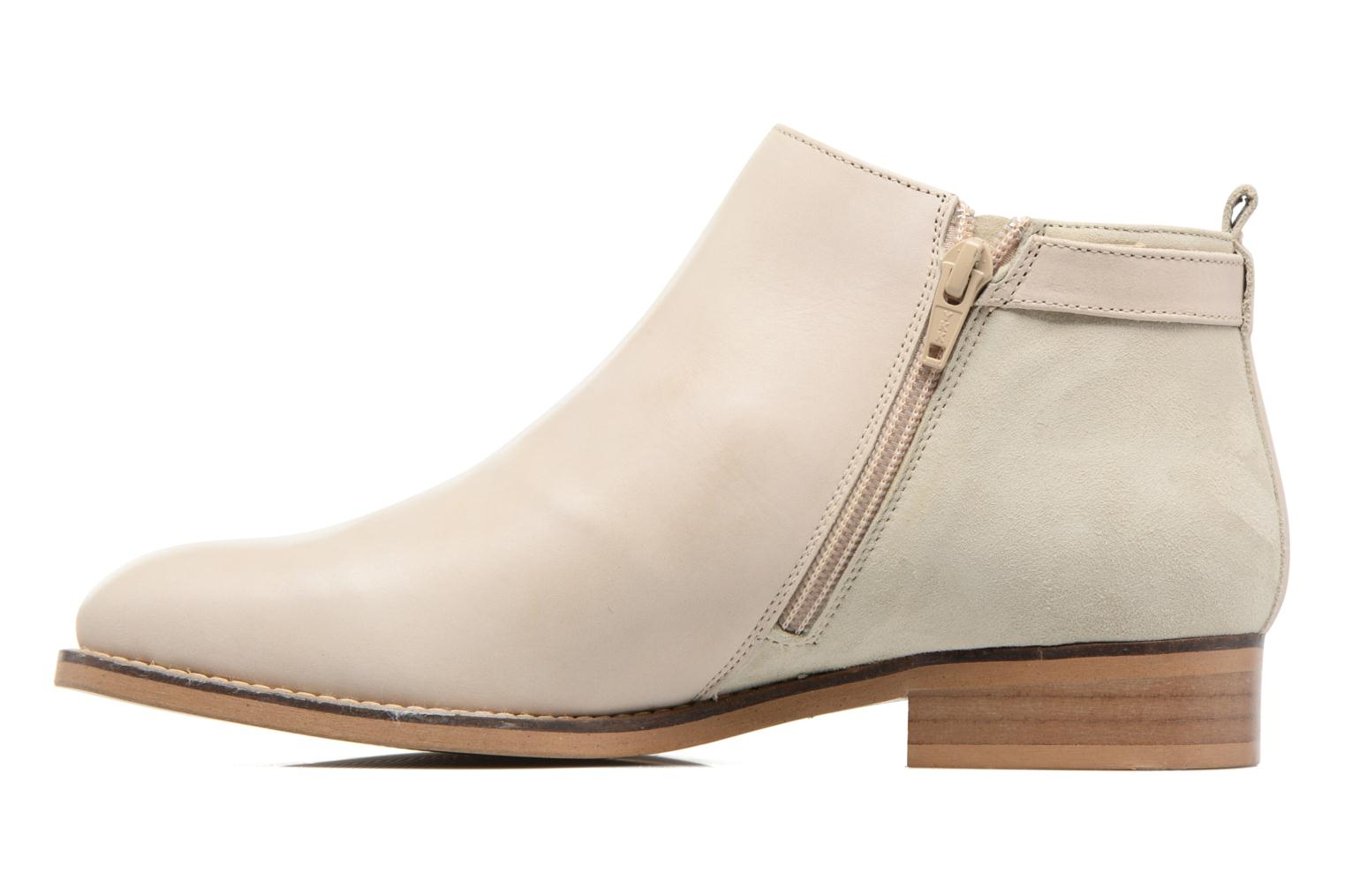Ankle boots Georgia Rose Tatouille Beige front view