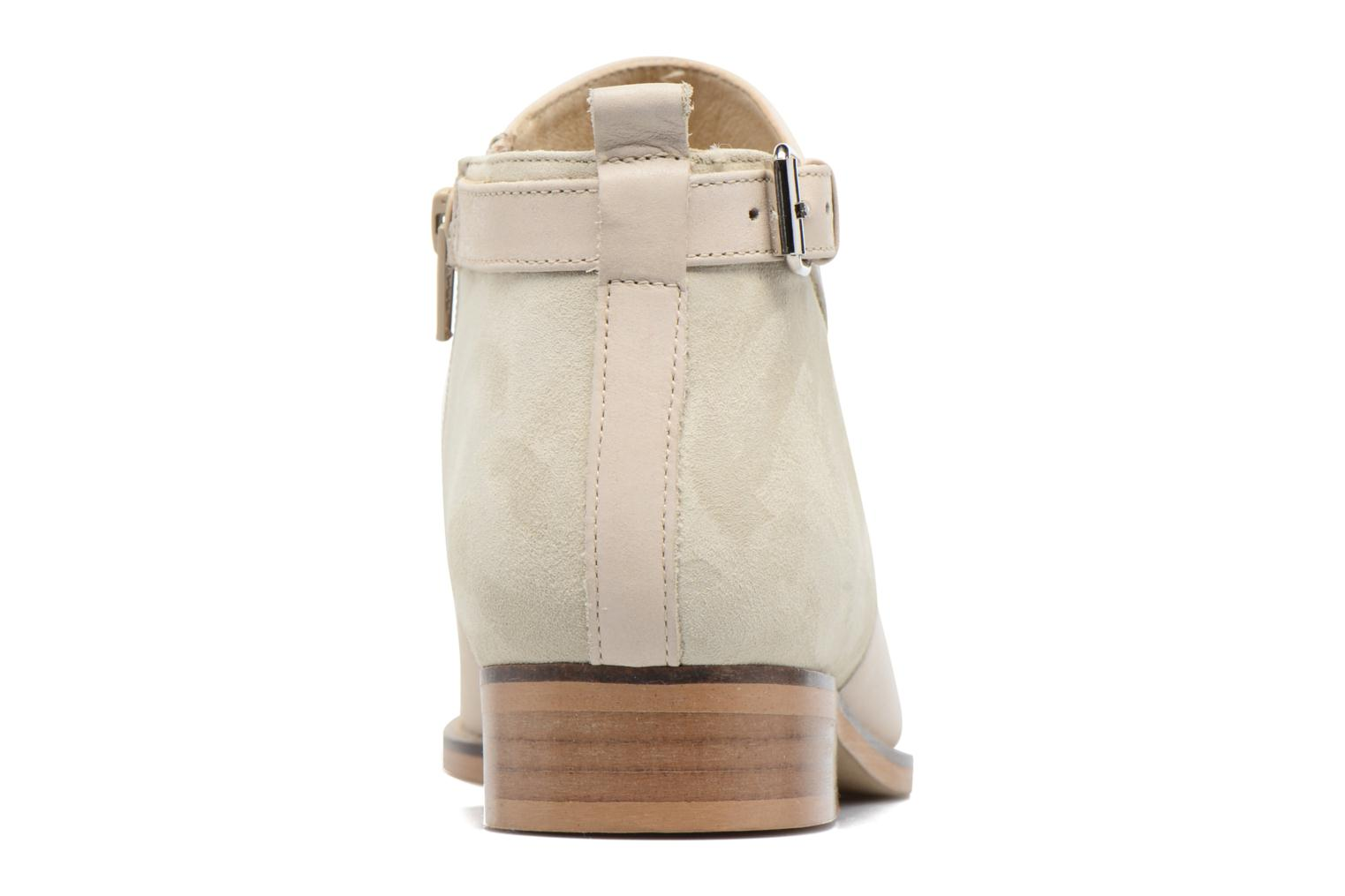 Ankle boots Georgia Rose Tatouille Beige view from the right