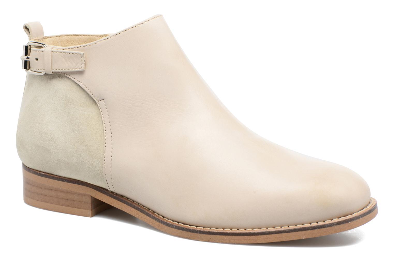 Ankelstøvler Georgia Rose Tatouille Beige detaljeret billede af skoene