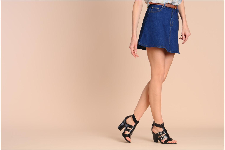 Sandales et nu-pieds Georgia Rose Tatruc Noir vue bas / vue portée sac