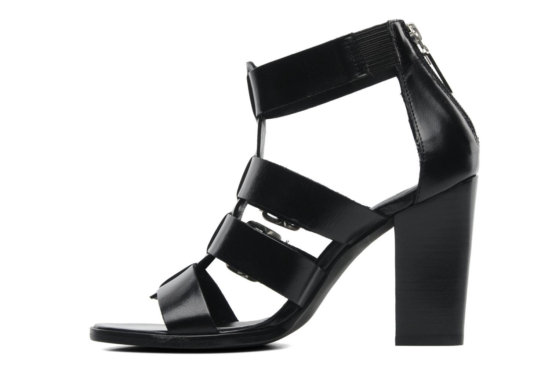 Sandales et nu-pieds Georgia Rose Tatruc Noir vue face