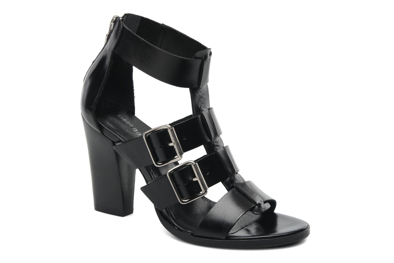 Sandales et nu-pieds Georgia Rose Tatruc Noir vue détail/paire