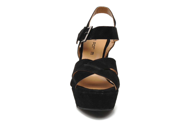 Sandales et nu-pieds M PAR M Festin Noir vue portées chaussures