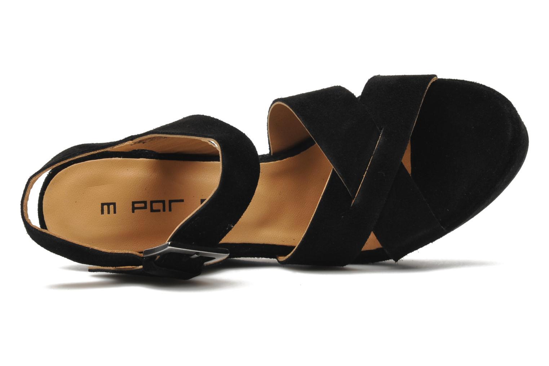 Sandales et nu-pieds M PAR M Festin Noir vue gauche