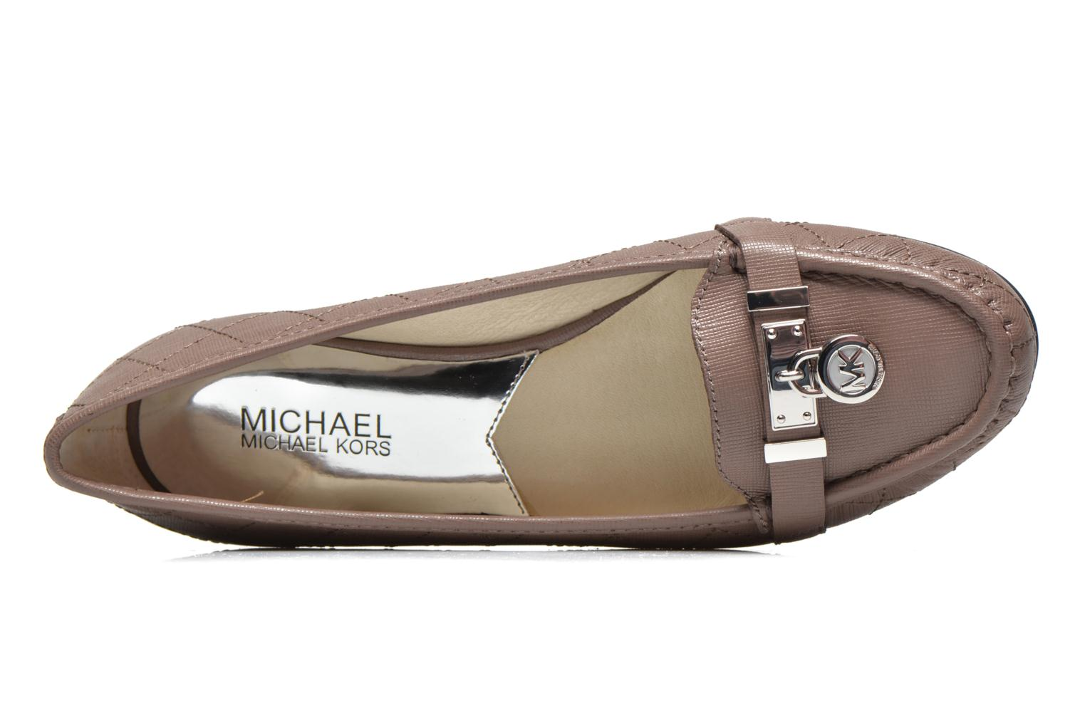 Loafers Michael Michael Kors Hamilton Moc Beige view from the left