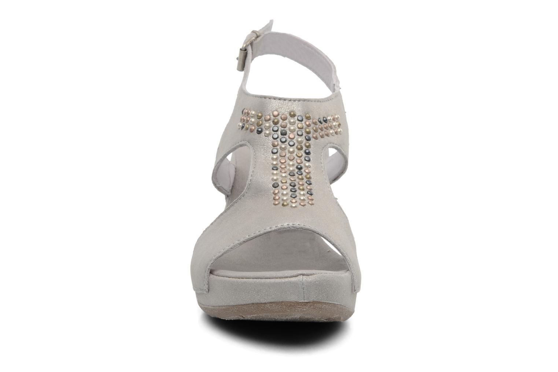 Sandales et nu-pieds Khrio Jolio N Gris vue portées chaussures