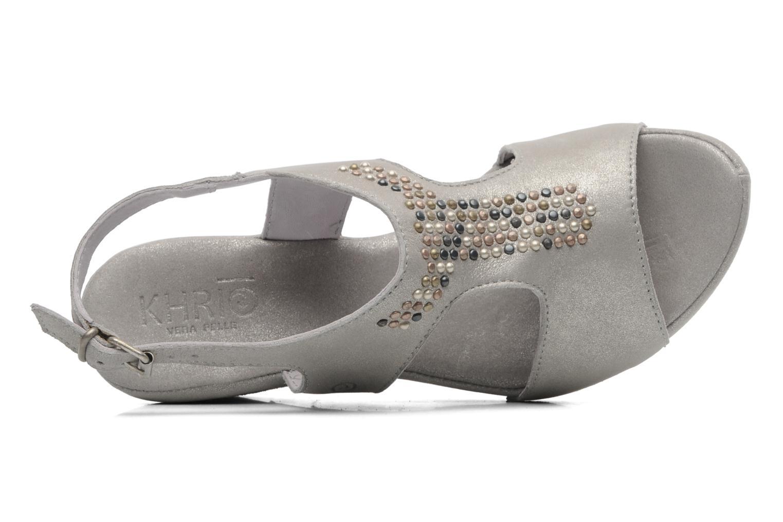 Sandales et nu-pieds Khrio Jolio N Gris vue gauche