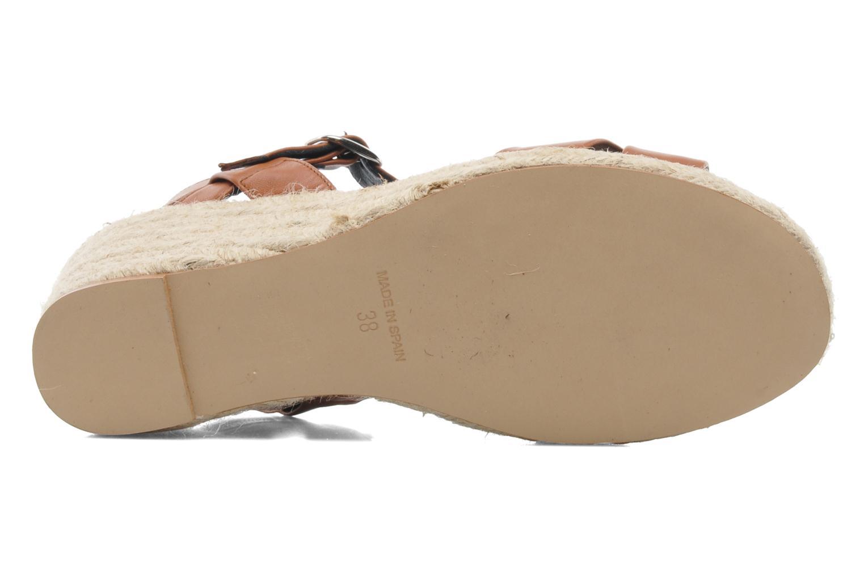 Sandales et nu-pieds Anna Volodia Jemeo Marron vue haut