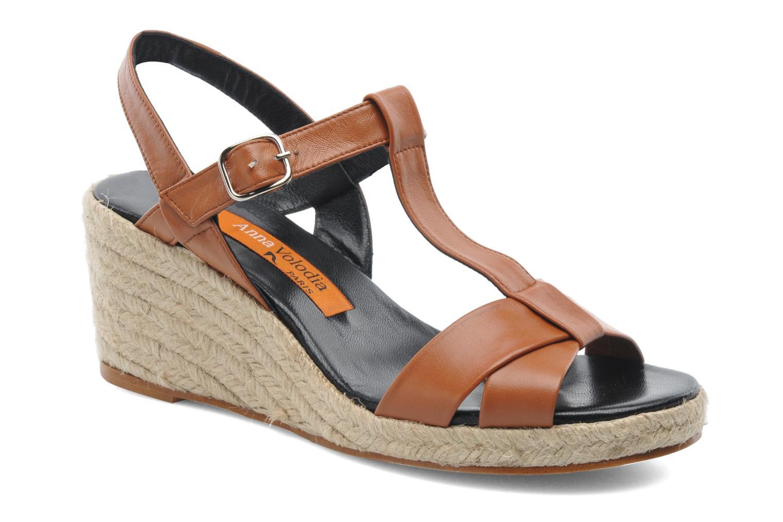 Sandaler Anna Volodia Jemeo Brun detaljeret billede af skoene