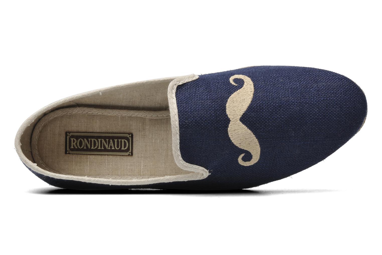 Pantoffels Rondinaud Merlin Blauw links