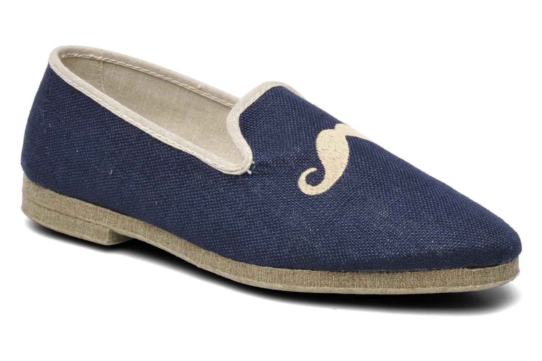 Pantoffels Rondinaud Merlin Blauw detail