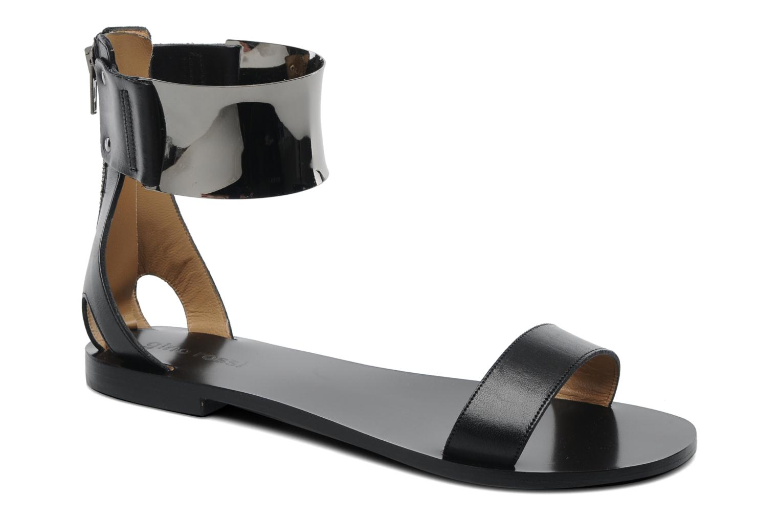 Sandals Gino Rossi Franco Black detailed view/ Pair view
