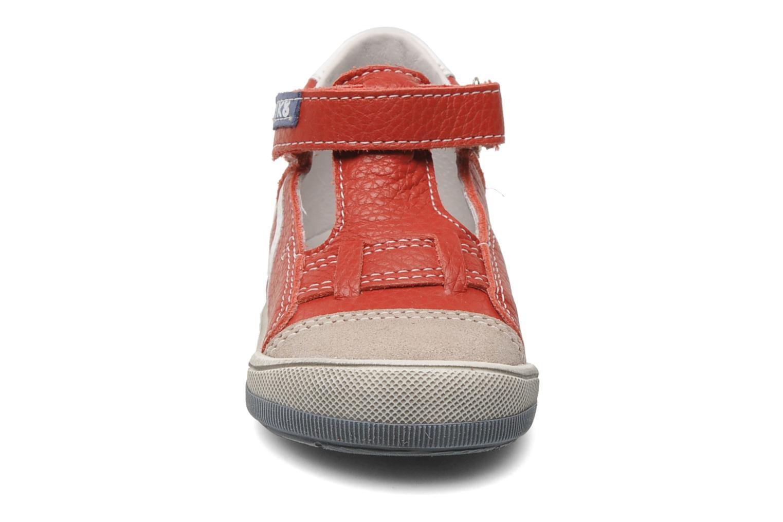 Chaussures à scratch Bopy BESSAT Rouge vue portées chaussures