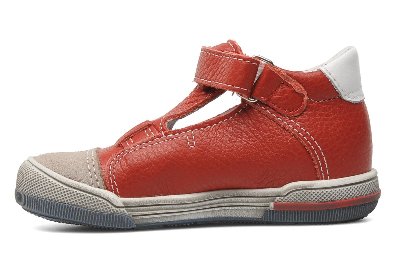 Chaussures à scratch Bopy BESSAT Rouge vue face