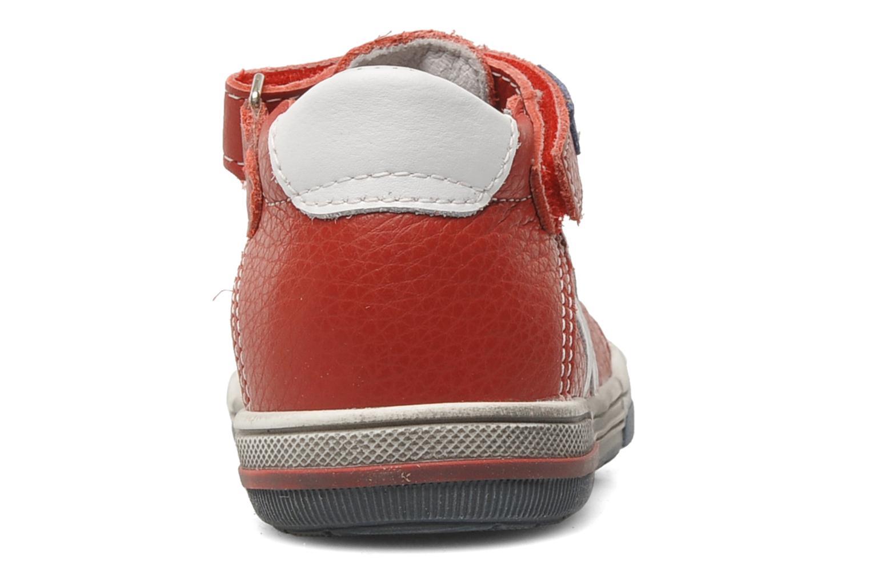 Chaussures à scratch Bopy BESSAT Rouge vue droite