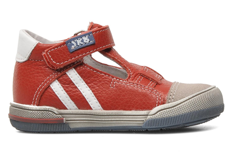Chaussures à scratch Bopy BESSAT Rouge vue derrière