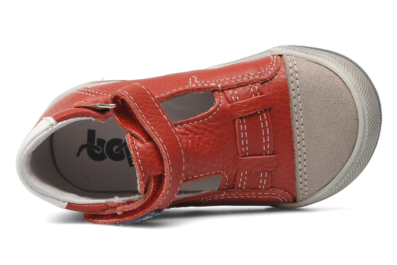 Chaussures à scratch Bopy BESSAT Rouge vue gauche