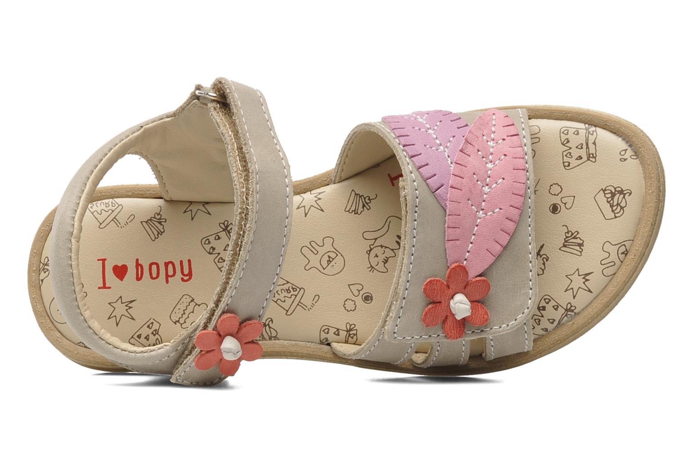 Sandales et nu-pieds Bopy ECOFIT Beige vue gauche