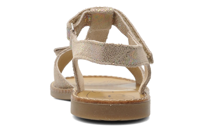 Sandales et nu-pieds Bopy ELOLO Beige vue droite