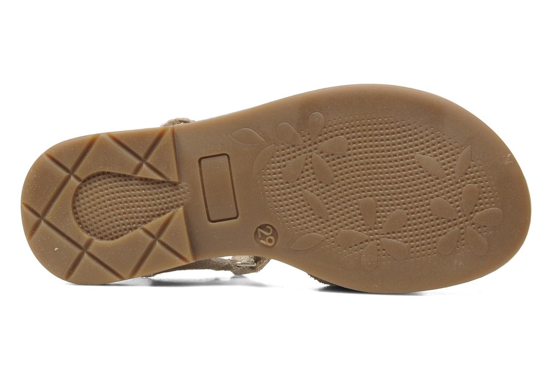 Sandales et nu-pieds Bopy ELOLO Beige vue haut