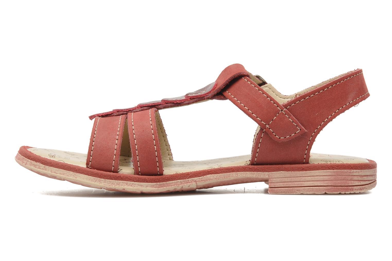 Sandalen Bopy ESSOU rot ansicht von vorne