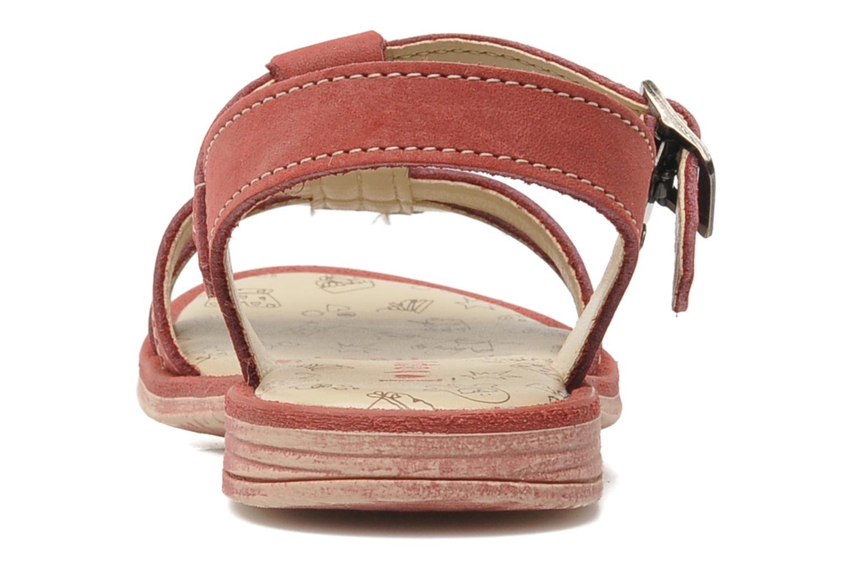 Sandalen Bopy ESSOU rot ansicht von rechts