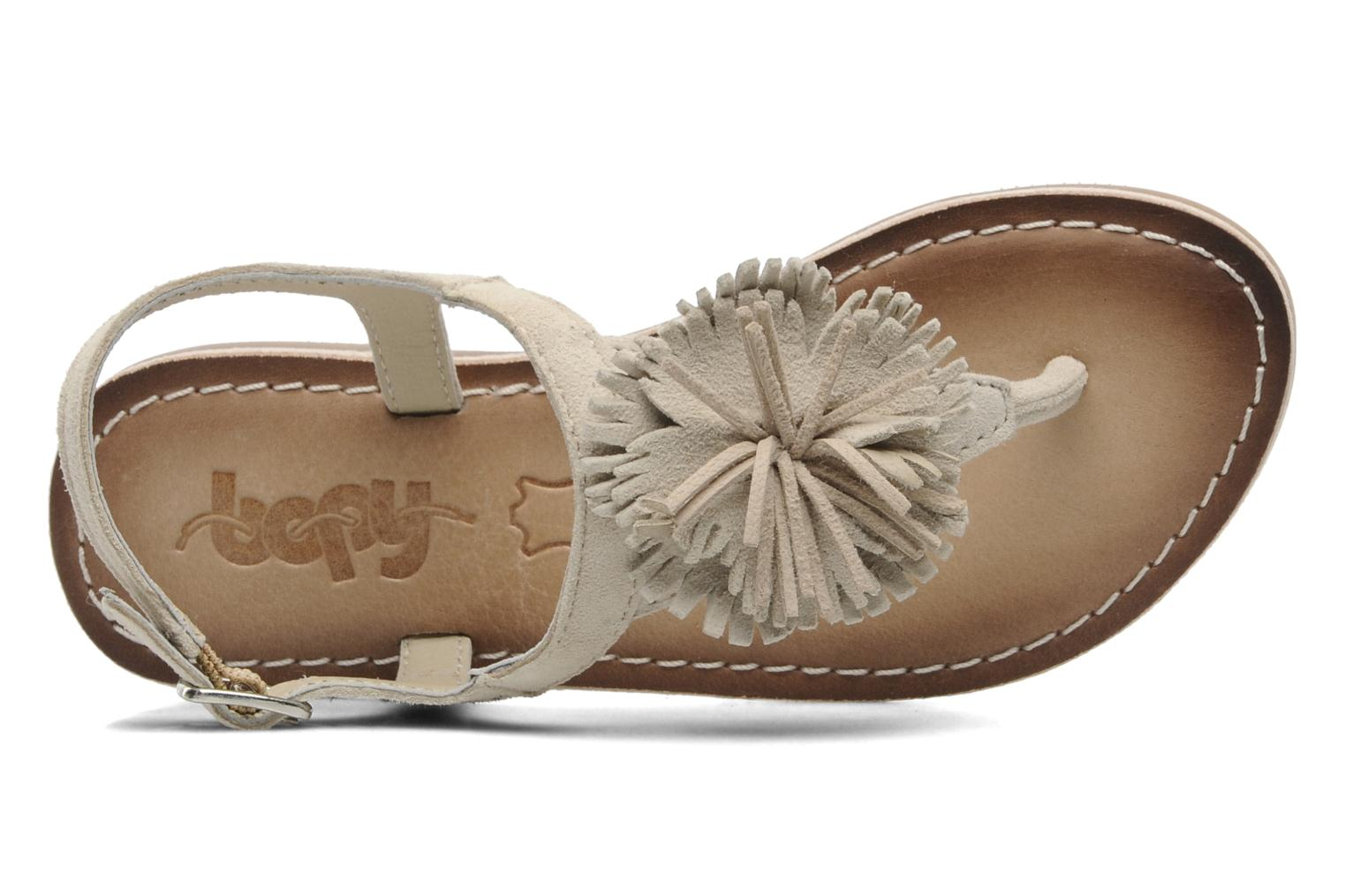 Sandals Bopy FREESIA Beige view from the left